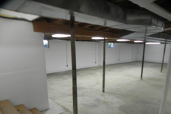Image Of Basement With White Walls